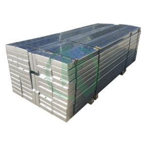 Galvanized steel planks