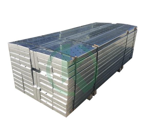 Galvanized steel planks